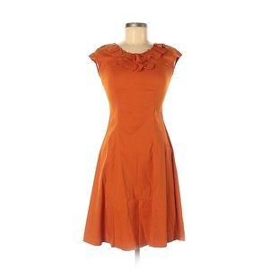 Shabby Apple Burnt Orange Thanksgiving Dress
